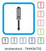 screwdriver icon. flat grey...