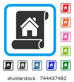 realty description roll icon.... | Shutterstock .eps vector #744437482