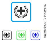 medical award wreath icon. flat ...
