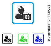 patient first aid case icon....