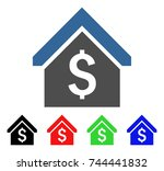 loan mortgage icon. vector... | Shutterstock .eps vector #744441832