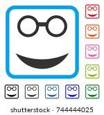 professor smile icon. flat gray ...   Shutterstock .eps vector #744444025