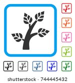 plant tree icon. flat grey...   Shutterstock .eps vector #744445432