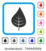 plant leaf icon. flat gray...