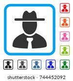 gentleman icon. flat gray...   Shutterstock .eps vector #744452092