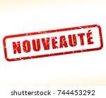 french translation for novelty...   Shutterstock .eps vector #744453292