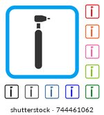 engraving cutter icon. flat... | Shutterstock .eps vector #744461062