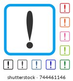 exclamation sign icon. flat... | Shutterstock .eps vector #744461146