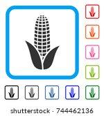 corn icon. flat grey iconic...
