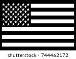 united states  usa  flag patch... | Shutterstock .eps vector #744462172