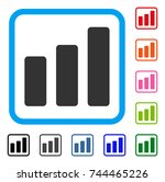 bar chart increase icon. flat...