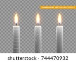 candles burn with fire. set of... | Shutterstock .eps vector #744470932