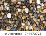 wet rock river texture... | Shutterstock . vector #744473728