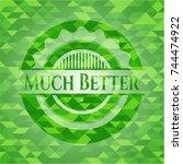 much better realistic green... | Shutterstock .eps vector #744474922