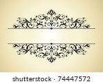 vintage | Shutterstock .eps vector #74447572