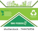 ecology connection  concept... | Shutterstock .eps vector #744476956