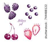 hand drawn illustration of... | Shutterstock .eps vector #744488122