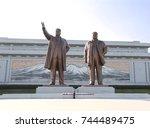 pyongyang  north korea  dprk    ... | Shutterstock . vector #744489475