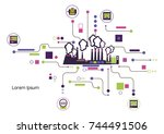 infographic template. the power ... | Shutterstock .eps vector #744491506