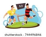 vector illustration of a sports ... | Shutterstock .eps vector #744496846