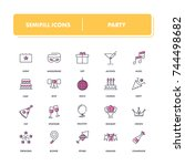 line icons set. party pack....