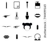 beauty icon set | Shutterstock .eps vector #744499165