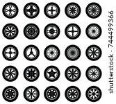 car wheel icon set | Shutterstock .eps vector #744499366