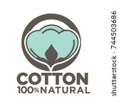cotton labels or logo for pure... | Shutterstock .eps vector #744503686