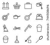 thin line icon set   cargo top... | Shutterstock .eps vector #744508696