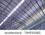 line structure of metal... | Shutterstock . vector #744510382
