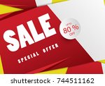 sale  this label special offer... | Shutterstock .eps vector #744511162