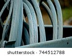 old electrical power cable | Shutterstock . vector #744512788
