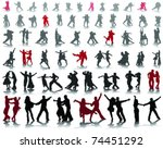 silhouettes of tango players... | Shutterstock .eps vector #74451292