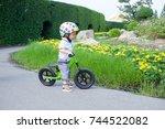 cute little asian 1 years   18...   Shutterstock . vector #744522082
