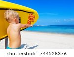 life saving yellow board with...   Shutterstock . vector #744528376
