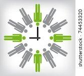 human clock conceptual...   Shutterstock .eps vector #74453320