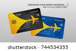 air rewards bank card vector... | Shutterstock .eps vector #744534355