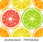 vector seamless pattern from... | Shutterstock .eps vector #744536362