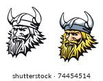 ancient angry viking warrior as ... | Shutterstock .eps vector #74454514