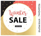 elegant christmas sale... | Shutterstock .eps vector #744549556