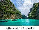 krabi thailand   october 17 ...   Shutterstock . vector #744552082