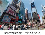 new york  ny  usa  may 7  times ...   Shutterstock . vector #744557236