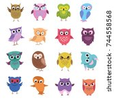 cute cartoon owl characters...