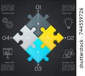 modern business infographic for ... | Shutterstock .eps vector #744559726