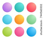 radial gradients with bright... | Shutterstock .eps vector #744560332