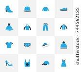 Garment Colorful Icons Set....