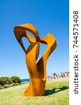sydney  australia.   on october ... | Shutterstock . vector #744571408