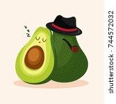 avocado goals | Shutterstock .eps vector #744572032