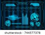 creative digital business... | Shutterstock . vector #744577378