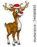 A Cartoon Christmas Reindeer...